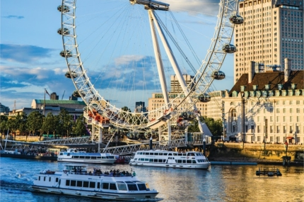 see sights of London Eye and River Cruise